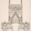 Élévation géométrale du portique qui décorait la façade de l'Église de Notre-Dame.