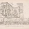 Vue du grand vestibule, en forme de tente, évigé à l'entrée de l'Église de Notre-Dame.