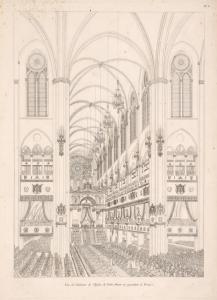 Vue de l'intérieur de l'Église de Notre-Dame, en regardent le Trône.