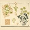 [Abstract design based on flowers and leaves.]