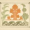 [Abstract design based on leaf shapes.]
