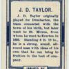 J. D. Taylor