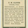 E.M. Glover.