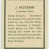 J. Paterson.