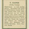T. Cooper.