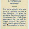 D. Thackeray.