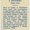 S. Matthews.
