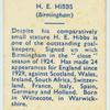 H. E. Hibbs.