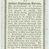 Arthur Gladstone Havers.