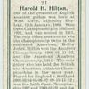 Harold H. Hilton.