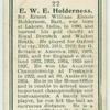 E. W. e. Holderness.
