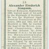 Alexander Frederick Simpson.