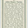 John Henry Taylor.