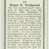 Roger H. Wethered.