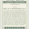 Sir. E. W. E. Holderness, Bart.