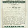 C. A. Whitcombe.