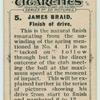 James Braid. Finish of the drive.