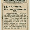 J. H. Taylor. Right way to address the ball.