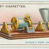 Edison's first phonograph.