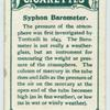 Syphon barometer.