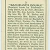 """Bachelor's Double""."