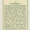 """""""Foxcroft""""."""