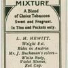 L. H. Hewitt.