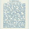 R. Perryman.