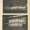 1. Vue de nuit du magasin Leiser, à Berlin. 2. Kiosque d'exposition pour journaux.