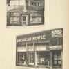 1. Façade du magasin Van der Elst, à Bruxelles. 2. Façade du magasin «American House», à Bruxelles.