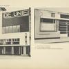 1. Façade pour un café provisoire. 2. Studio des architectes Labayen et Aïzpurua, à San Sebastian.