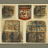 Coffre en bois et en écorce avec ferrures, décors de personnages, [...]