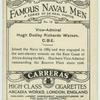 Vice-Admiral Hugh Dudley Richards Watson, C.B.E.