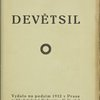Revoluční sborník Devětsil. [Title page]