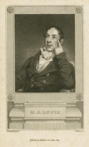 M. G. (Matthew Gregory) Lewis, 1775-1818.