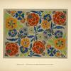 [Design based on multicolored round flowers.]