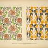 [Design based on birds and flowers; design based on flowers and leaves.]