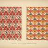 [Design based on red vegetal shapes; orange and red vegetal shapes.]