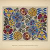 [Design based on multicolored floral shapes.]