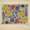 [Design based on multicolored flowers.]