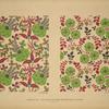 [Design based on multicolored vegetal shapes; design based on multicolored vegetal shapes.]