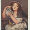 A Girl with Doves.