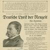 Detlev, Freiherr von Liliencron, 1844-1909.