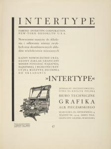 Intertype, fabryki intertype corporation, New York - Brooklyn U.S.A. [...]