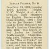 Pedlar Palmer.