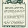 """Single-berth compartment, """"The Imperial Indian Mait."""""""