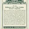 """Pullman car, """"The Golden Arrow"""" Express."""
