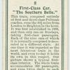 "First-class car, ""The Southern Belle."""