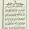 "Observation car, ""The Contintal Ltd."""
