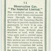 """Observation car, """"The Imperial Limited."""""""